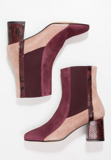 Finery London CLARISSA Boots burgundy / tonal colour block ankle boots - flipped