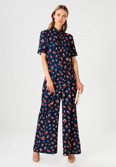 Finery London VINCE STEM ROSES Jumpsuit / floral wide leg jumpsuits - flipped