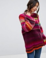 Free People Castles in the Sky Jumper | rainbow jumpers