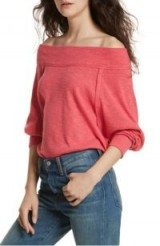 FREE PEOPLE Palisades Off the Shoulder Top | slouchy bardot tops