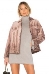 Free People VELVET TRUCKER JACKET | mauve luxe style jackets