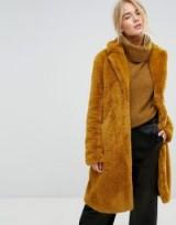 Gestuz Faux Fur Long Coat ~ winter coats