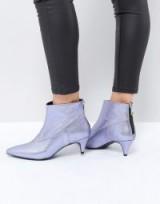 Gestuz Purple Metallic Boot ~ shiny ankle boots