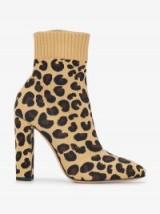 Gianvito Rossi Sauvage 85 Leopard-Print Sock Boots