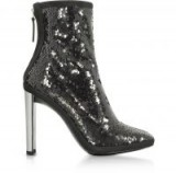 GIUSEPPE ZANOTTI Luce Black Sequined High Heel Ankle Bootie – sequinned boots