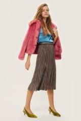 Topshop Glitter Rainbow Pleat Midi Skirt / shimmering pleated skirts