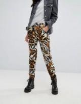 G-Star 5622 Elwood X 25 Pharrell Jean in Tiger Print   animal print denim jeans