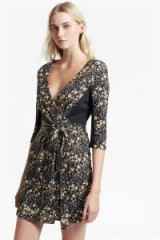 FRENCH CONNECTION HALLIE PRINT JERSEY WRAP DRESS ~ floral dresses