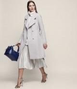 Reiss HARRI BELTED LONGLINE COAT PARCHMENT ~ stylish winter coats