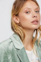 Free People Herkimer Diamond Hoops | large round hooped earrings
