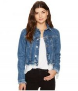 Hudson Garrison Cropped Jacket in Continuum #blue #denim #jackets