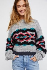 Free People I Heart You Jumper | boxy cropped jumpers | textured knitwear