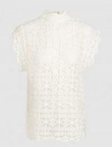IRO Lauuka Scalloped Crochet Top ~ feminine high neck tops
