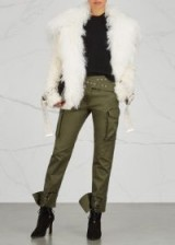 MONSE Ivory shearling jacket ~ shaggy jackets ~ winter style statement