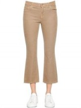 J BRAND SELENA MID RISE BOOT CUT CORDUROY PANTS – camel brown cord crop leg trousers