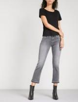 J BRAND Selena released-hem bootcut cropped mid-rise jeans   grey denim