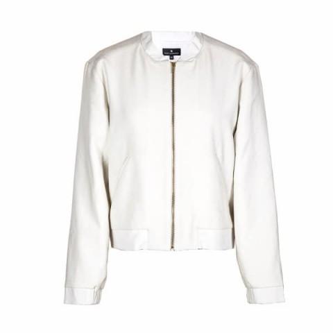 Emily Lovelock Jacquard Bomber | winter-white jackets