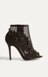Karen Millen JEWEL ENCRUSTED SHOE BOOTS – party shoes – jewelled booties