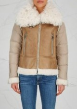 MONCLER Kilia Toscana shearling and shell jacket ~ luxe winter jackets