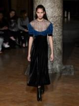 EMILIA WICKSTEAD Kirsten embroidered-lace velvet dress – feminine evening dresses – romantic style