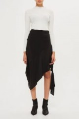 Topshop Knot Side Skirt by Boutique | black asymmetric skirts