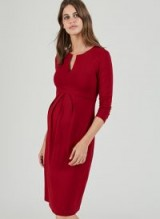 ISABELLA OLIVER KRISTEN MATERNITY SHIFT DRESS ~ stylish red pregnancy dresses