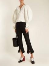JACQUEMUS La Chemise Boutons canvas blouse ~ cream balloon sleeve blouses