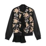 N12H Lace Bomber Jacket with Front Ruffle