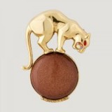 BUTLER & WILSON LEOPARD BALL BROOCH – animal brooches