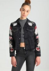 Levi's® Made & Crafted LMC BOYFRIEND TRUCKER Black Denim jacket kimora embroidered