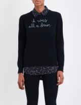 LINGUA FRANCA It Was All A Dream cashmere jumper / black slogan jumpers