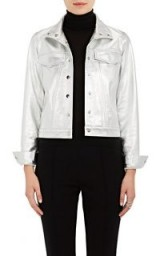 LISA PERRY Snazzy Metallic Leather Jacket ~ silver jackets