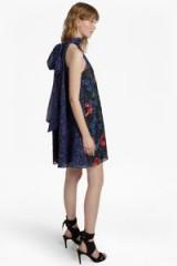 FRENCH CONNECTION LISETTE SPARKLE HALTERNECK FLORAL DRESS ~ statement dresses ~ party season frocks