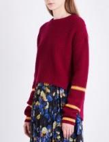 L.K. Bennett x Preen Annika stepped-hem wool and cashmere-blend jumper