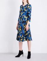 L.K. Bennett x Preen Syd crepe dress ~ blue floral dresses