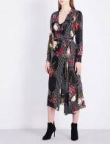 L.K. Bennett x Preen Vali silk dress ~ black floral dresses