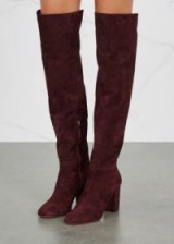 AQUAZZURA London burgundy suede over-the-knee boots ~ winter must-have style