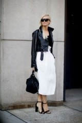 Chic monochrome outfits ~ New York street style