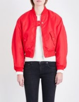 MAJE Maje x Schott Brooklyn reversible shell bomber jacket | red jackets