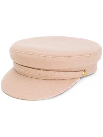 MANOKHI officer's cap / nude hats / peak caps