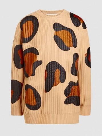 MARCO DE VINCENZO Leopard Ribbed-Knit Wool Sweater