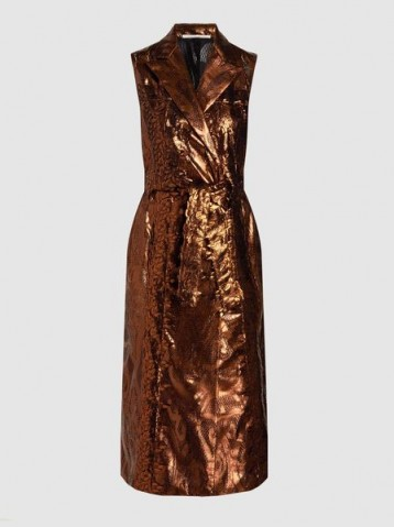 MARCO DE VINCENZO Metallic Lace Sleeveless Coat
