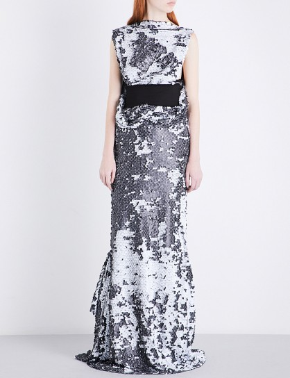 MATICEVSKI Myriad embellished gown – sequinned red carpet dresses – event gowns