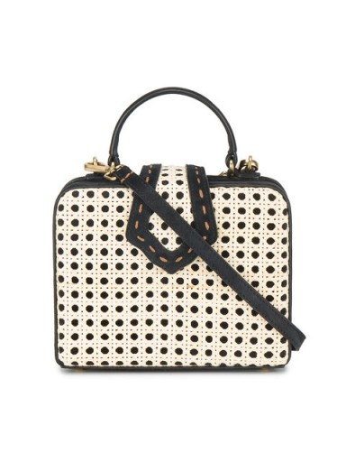 MEHRY MU Black Mini Fey rattan box bag
