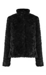 OASIS MIMI FUR JACKET / luxe black jackets