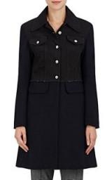 MM6 MAISON MARGIELA QUERY Denim & Melton Coat   single breasted coats