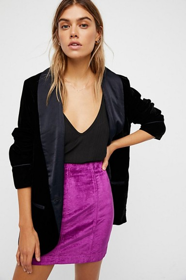 Modern Femme Velvet Mini Skirt | berry skirts