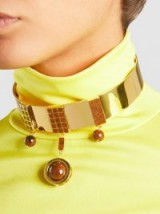 MONICA SORDO‎ Aubette Choker ~ brown stone chokers ~ statement jewellery