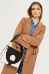 Topshop Monochrome Shay Ring Shoulder Bag / chic black and white handbags