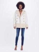 MOTHER DENIM Shearling Jacket All Bundled Up – Cream / luxury style winter jackets